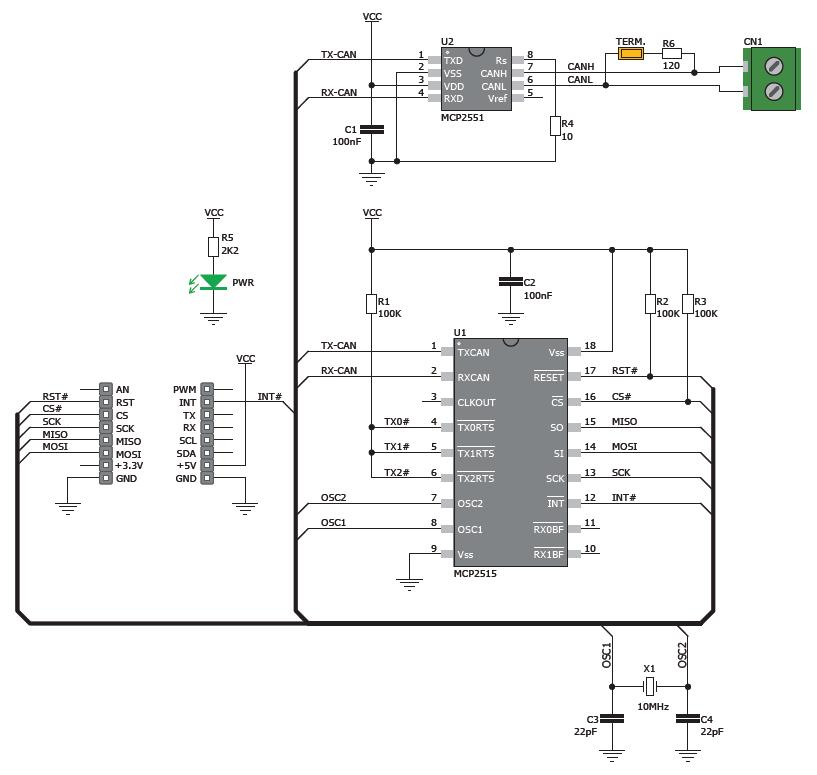 k u00f6p can spi click 5v till r u00e4tt pris   electrokit