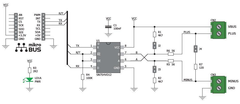 k u00f6p rs485 click 3 3v till r u00e4tt pris   electrokit