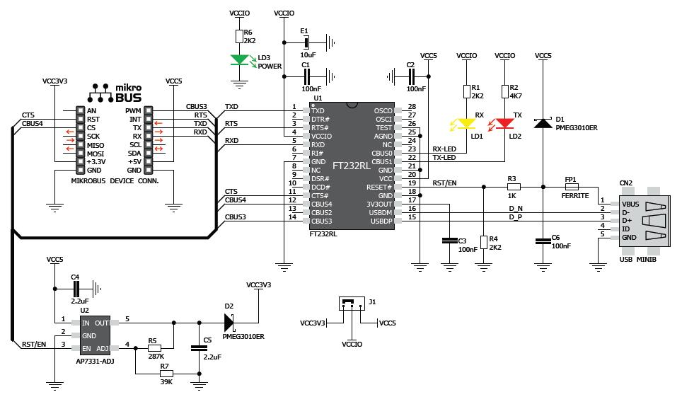 k u00f6p usb uart click till r u00e4tt pris   electrokit