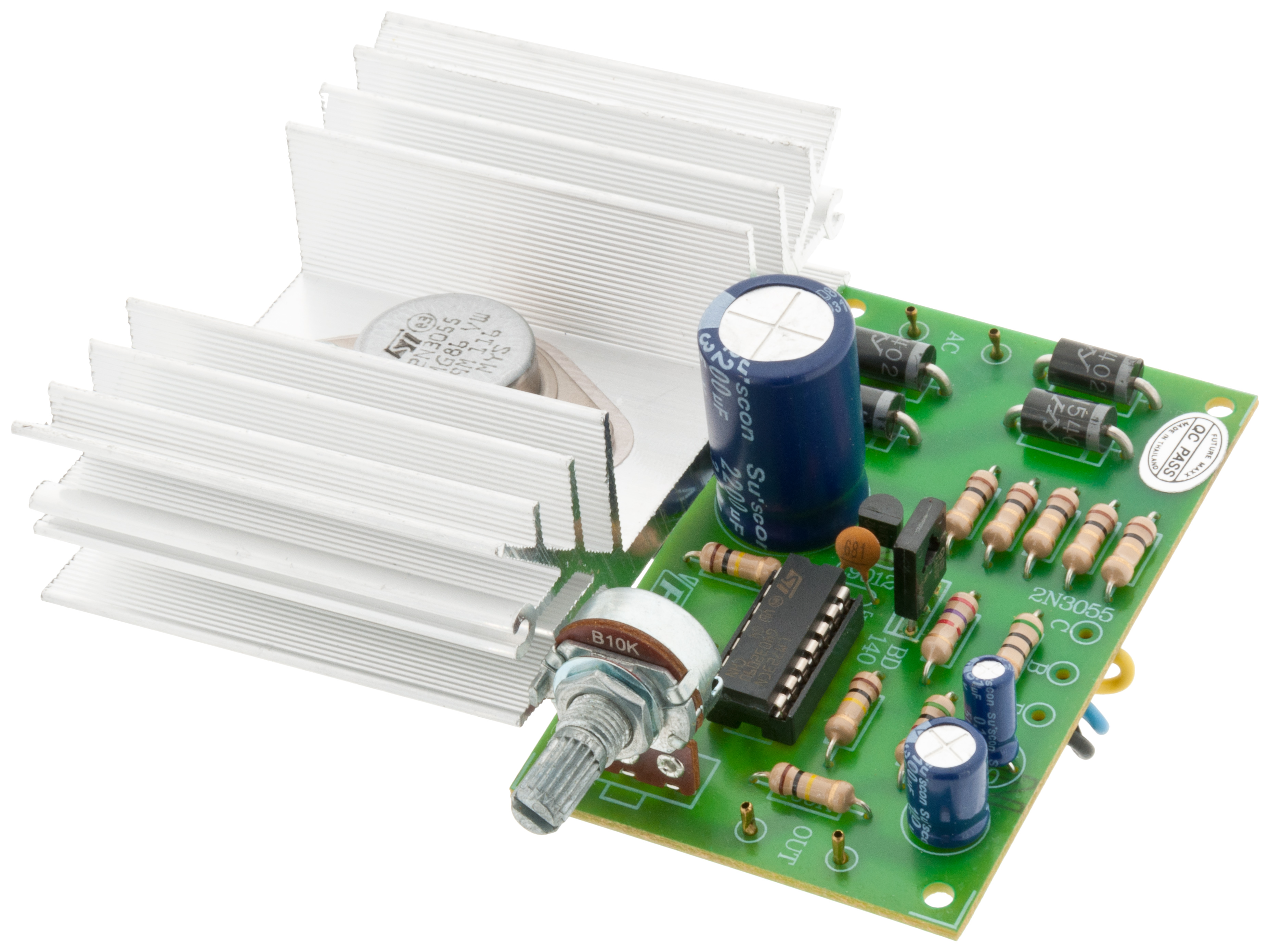 Buy Adjustable Power Supply 0 30v 3a At The Right Price Electrokit Circuit Using Transistor 2n3055 Homemade