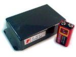 Apparatlåda FB13 med fläns svart 68x125x28mm
