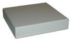 Apparatlåda FB21 med batterilucka grå 111x111x24mm