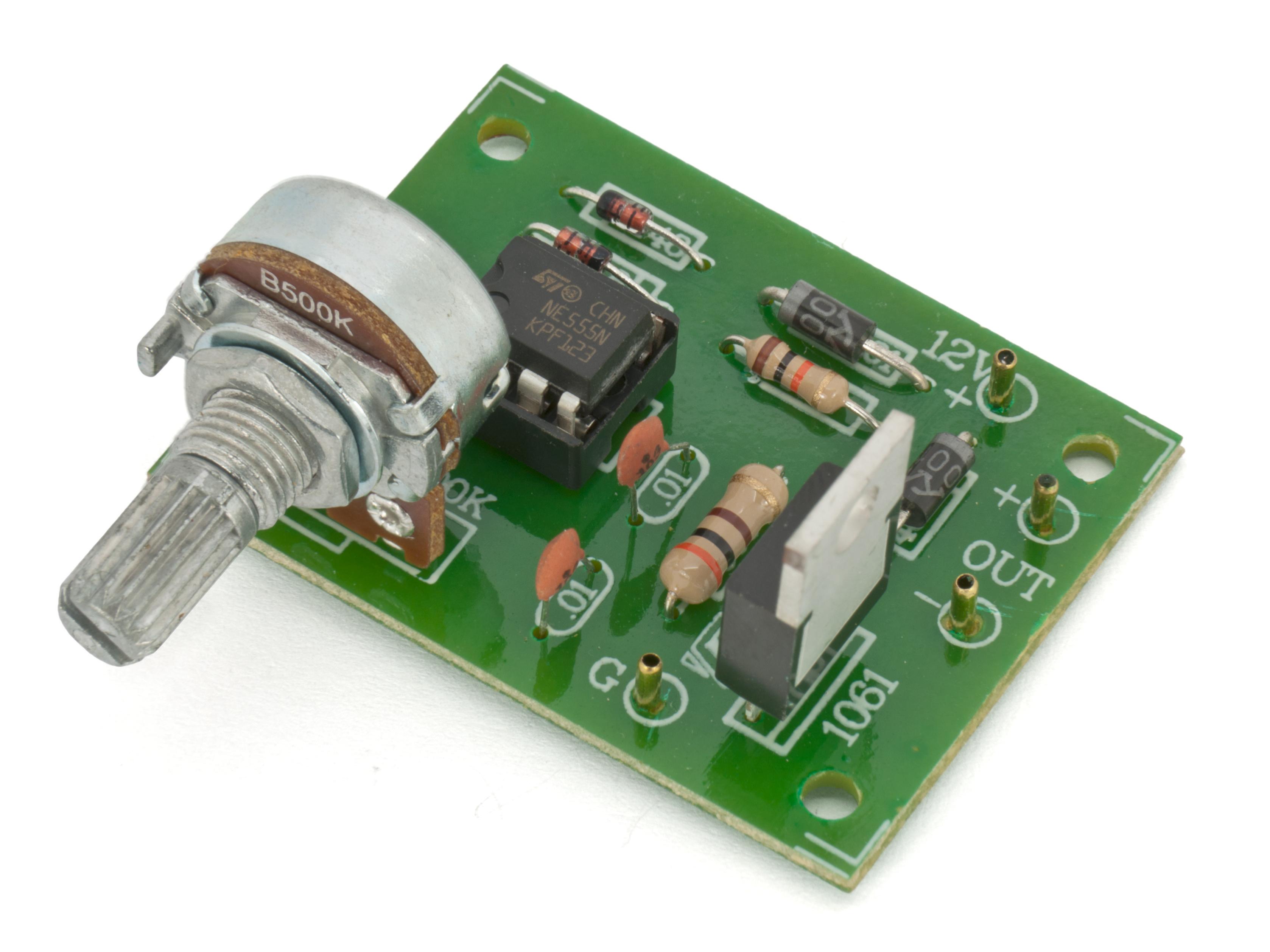 DC motor speed controller / LED dimmer 15V 0 5A