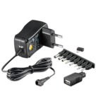 Batterieliminator 3-12V 600mA stab switchat