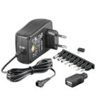 Batterieliminator 3-12V 1500mA stab switchat
