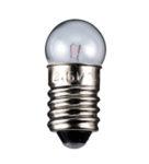 Glödlampa E10 6V 0.05A 0.3W glob