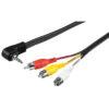 AV-kabel 4-pol 3.5mm till 3xRCA 1.5m