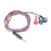 Anslutningskabel för 3st elektroder 4mm/3.5mm