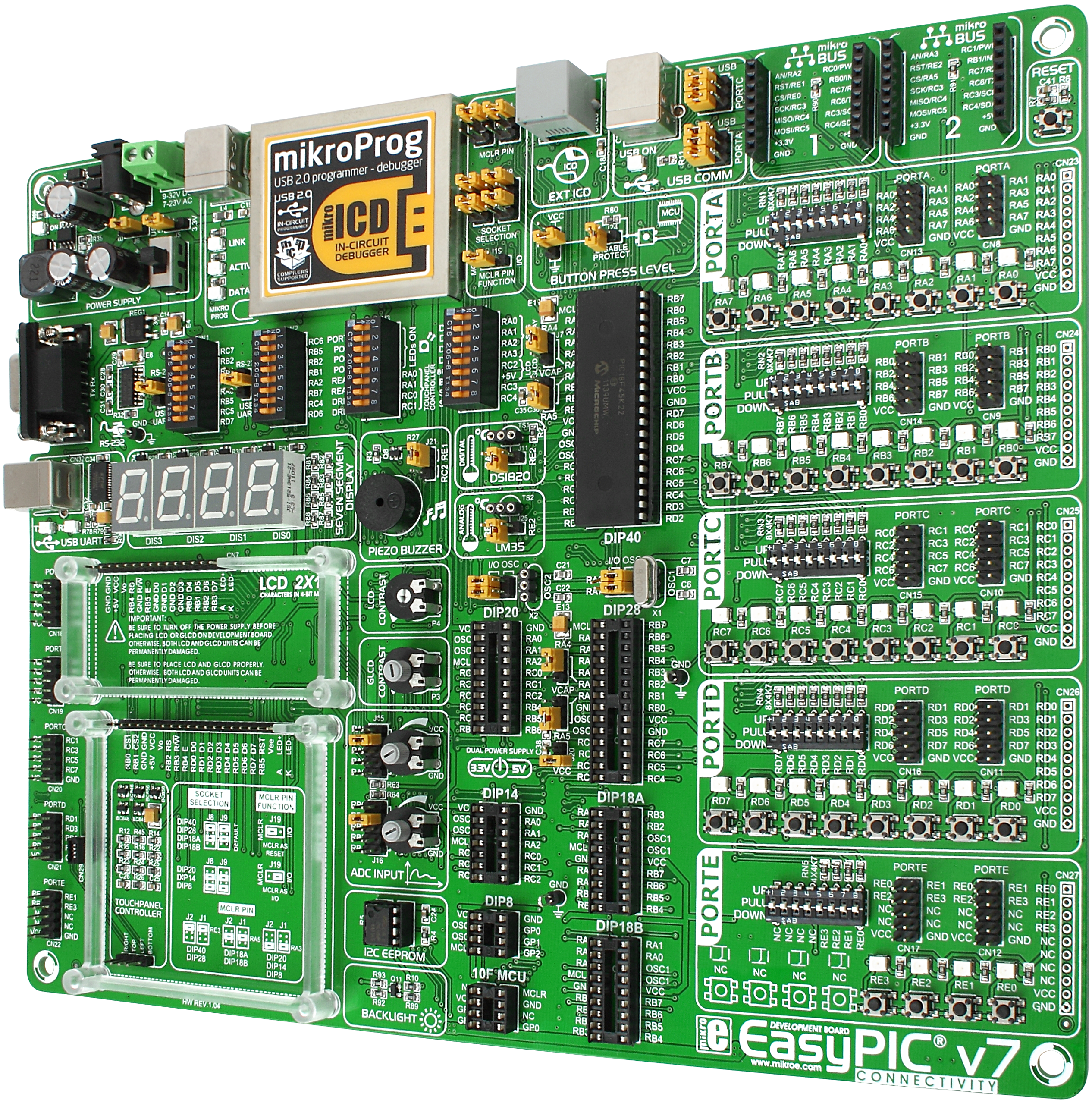 Buy Easypic V7 Development System At The Right Price Electrokit Interfacing Relay With 8051 Microcontroller Circuit Home
