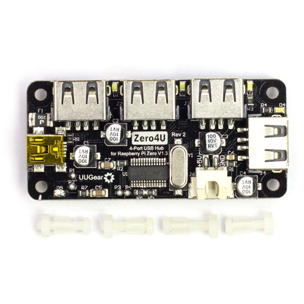 Zero4U - 4 Port USB Hub for Raspberry Pi Zero v1 3