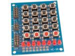 Tangentbord 16+4 knappar + 8 LED