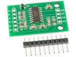 HX711 Lastcellsförstärkare monterad på kort