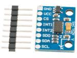 ADXL345 accelerometer 3-axel monterad på kort
