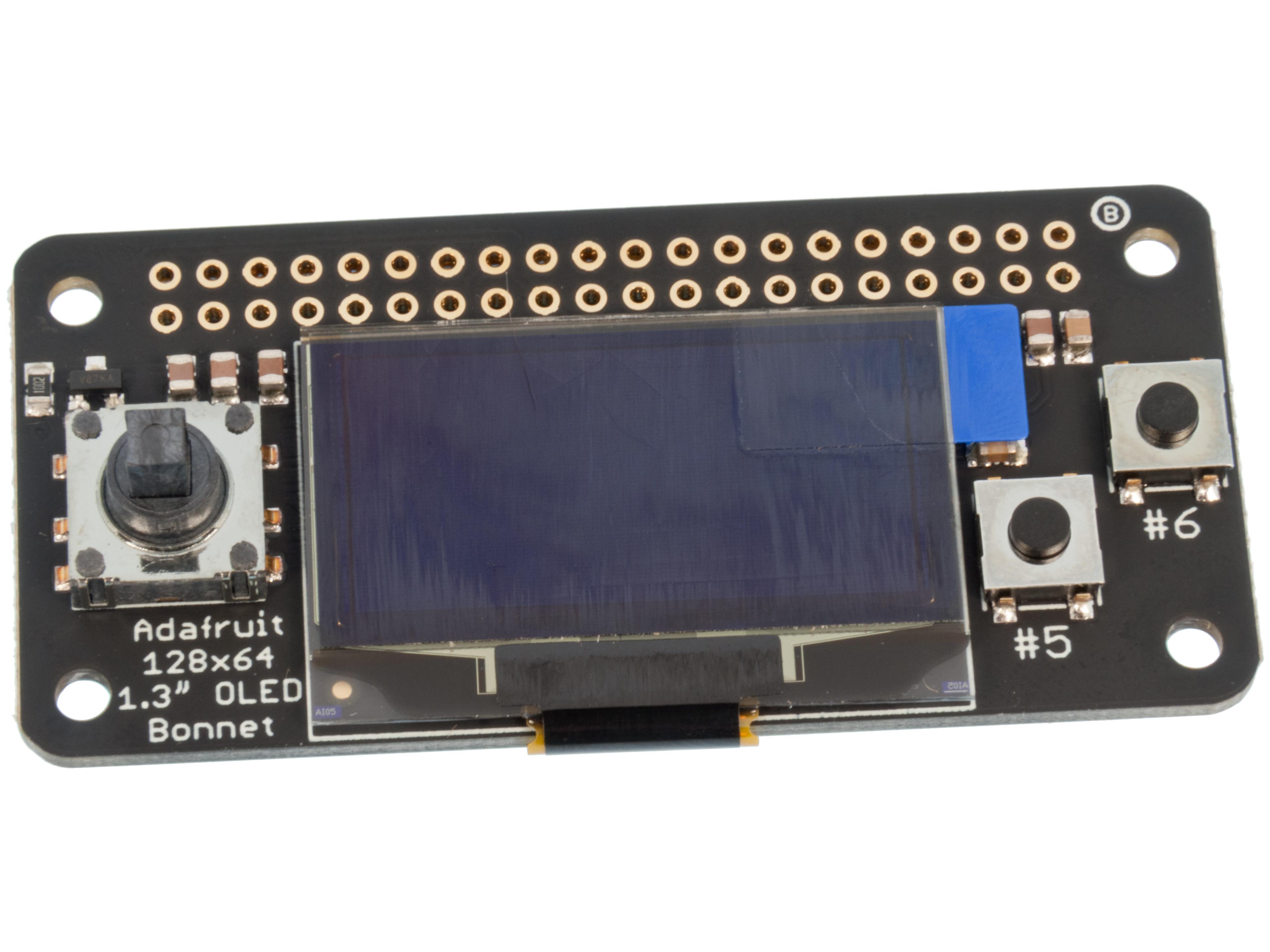 Adafruit 128x64 OLED för Pi Zero