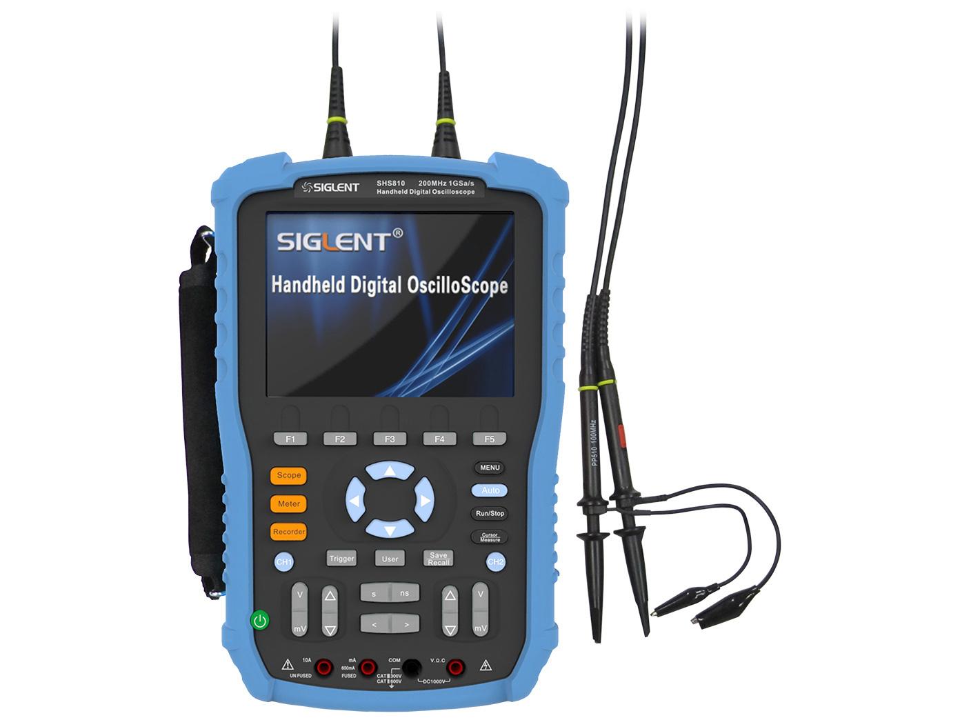 Oscilloscope 200MHz 2-ch handheld Siglent SHS820