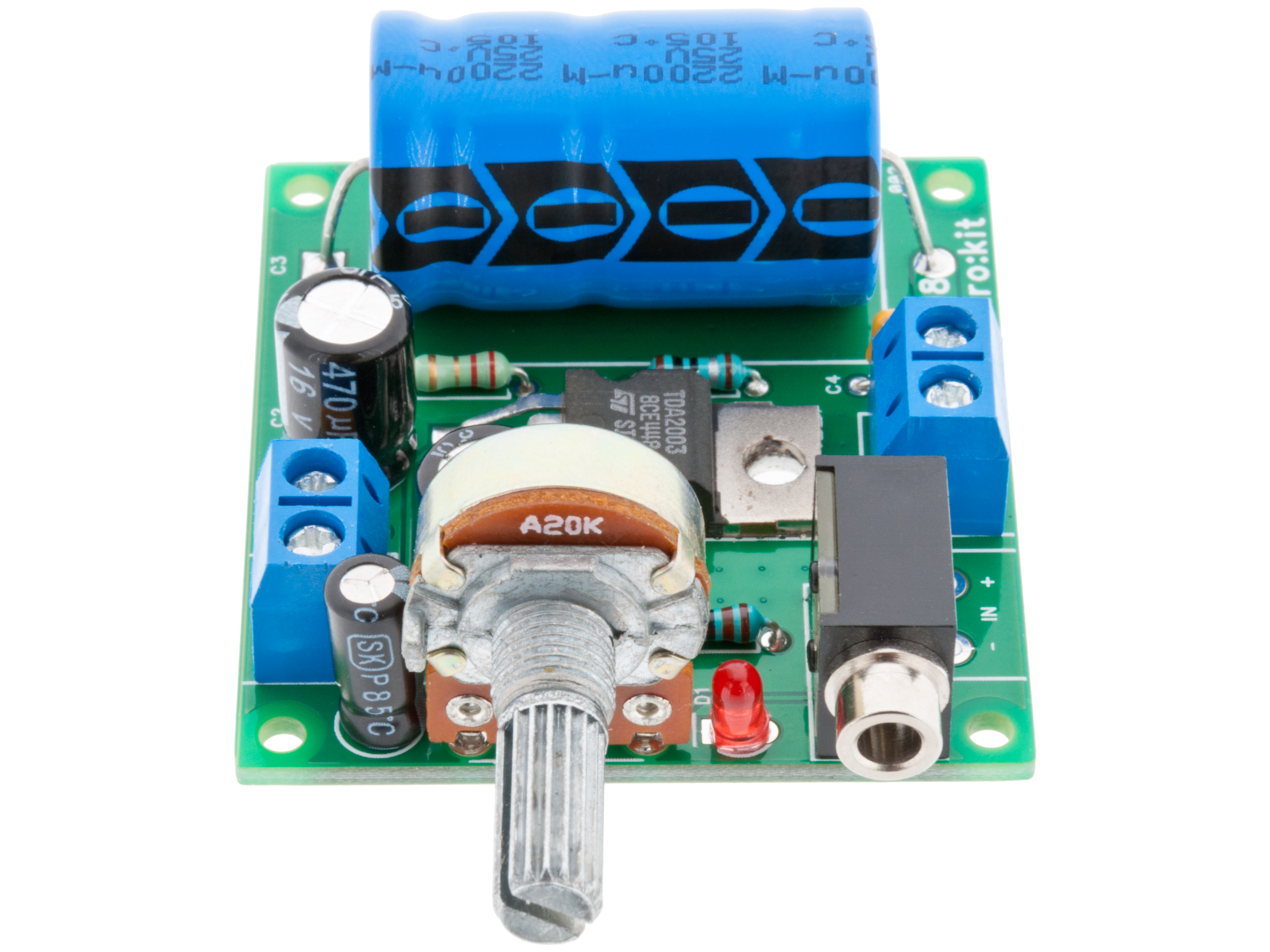 Buy 10w Amplifier Mono Ek008 At The Right Price Electrokit How To Build Your Own 10watt Power Using An Ic Tda 2003 Home Diy Solder Kits Amplifiers